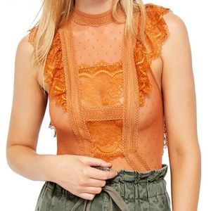 New Free People Winnie Lace Bodysuit
